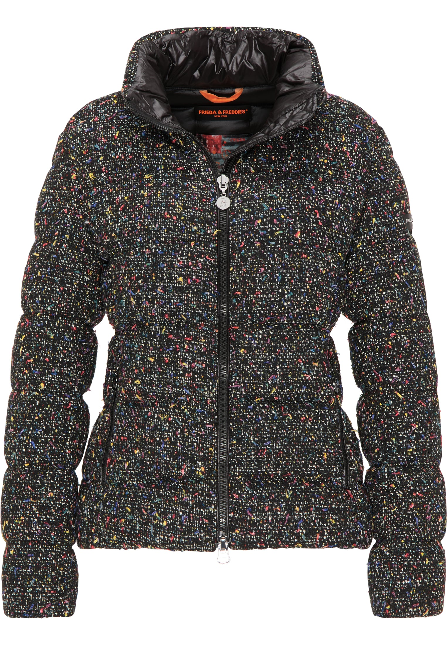 Frieda & Freddies Tweed Puffer Jacket