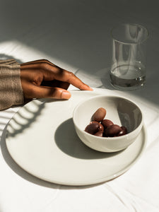 HUSK Ceramics Porcelain Tableware: Amuse Bowl & Lunch Plate