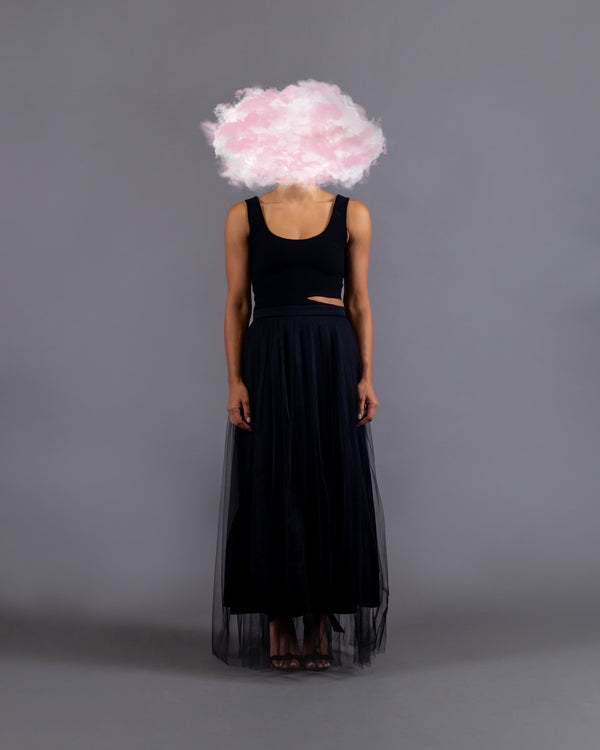 The Veil Skirt - Black