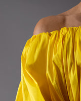 Air Balloon Dress (halter shoulder) - Yellow