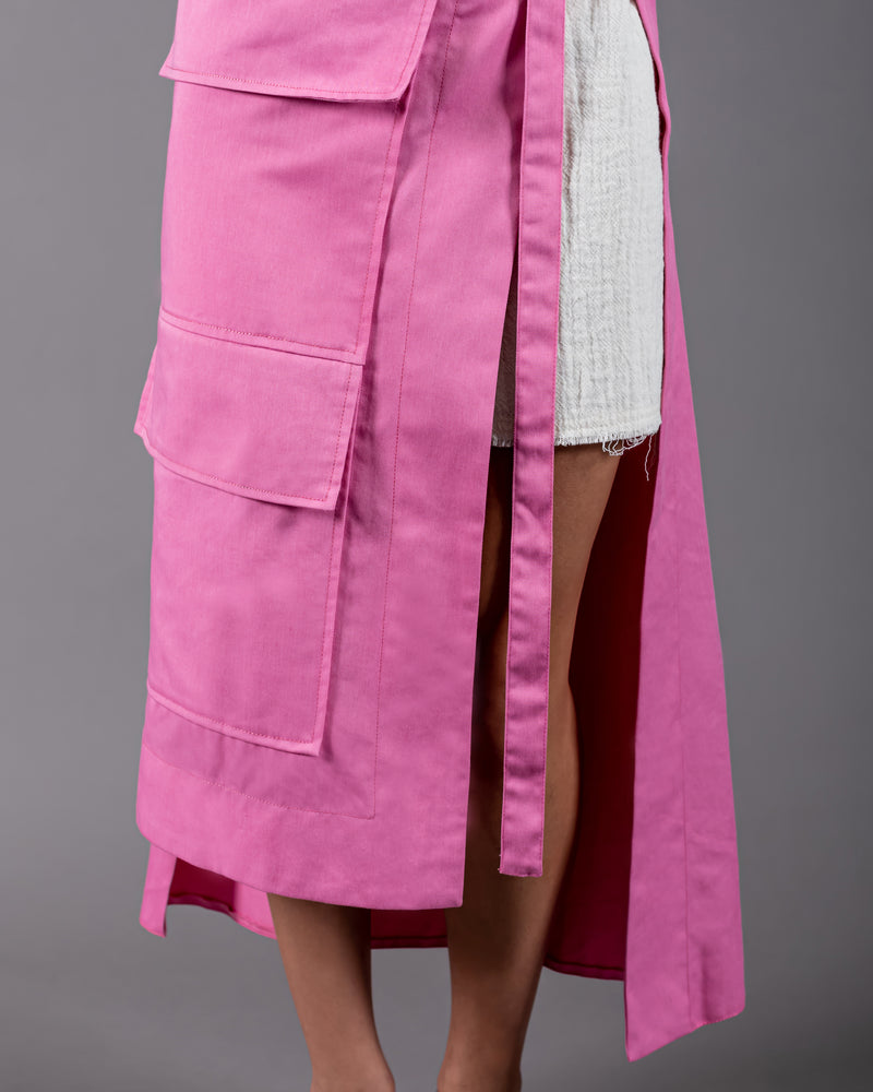 Wasted Wrap Skirt - Pink