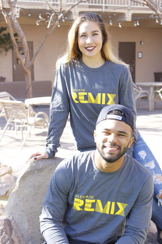 Remix Longsleeve [Gray and Yellow]