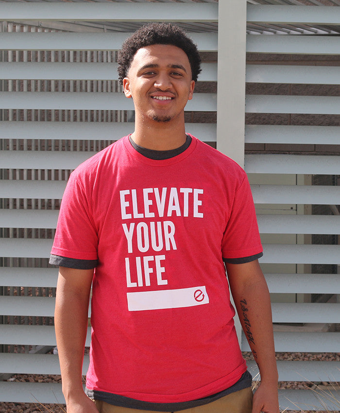 Elevate Your Life [Red w/ White]