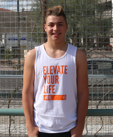 Elevate Your Life Tank [White/Orange]
