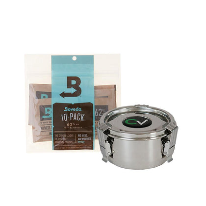 CVault Boveda Humidity Controlled Storage Combo - Medium | 10 x 8g 62% Boveda - Vaporizer Experts