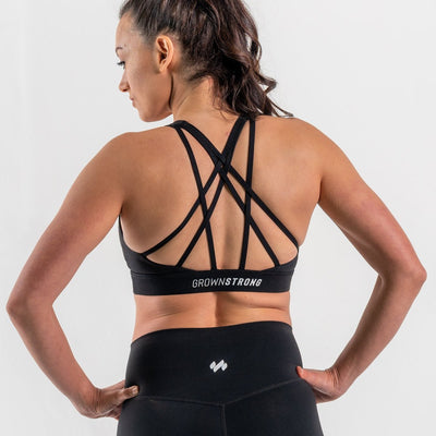 Limitless X Fearless Bra - Midnight - Grown Strong Fitness