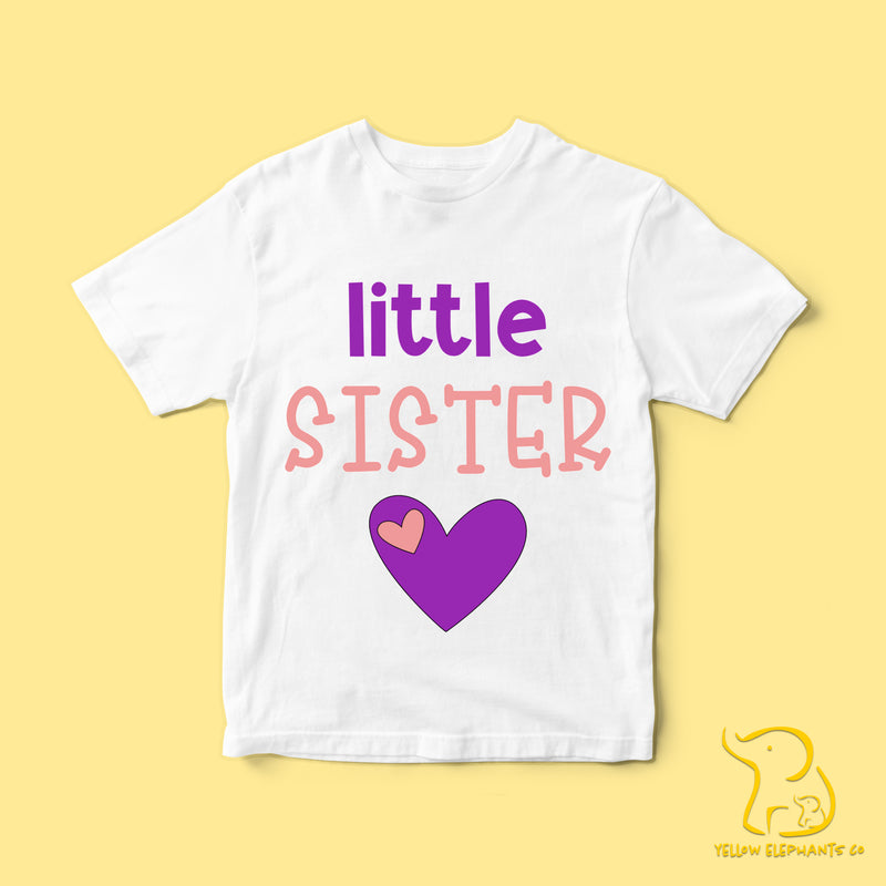 Children's Little Sister T-Shirt - White