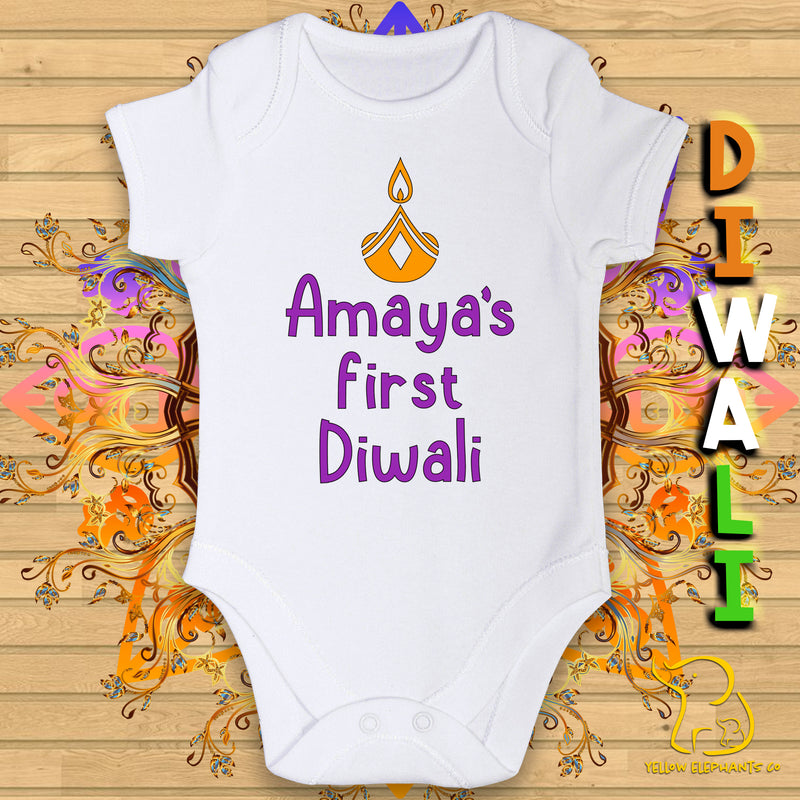 Custom First Diwali Baby Bodysuit