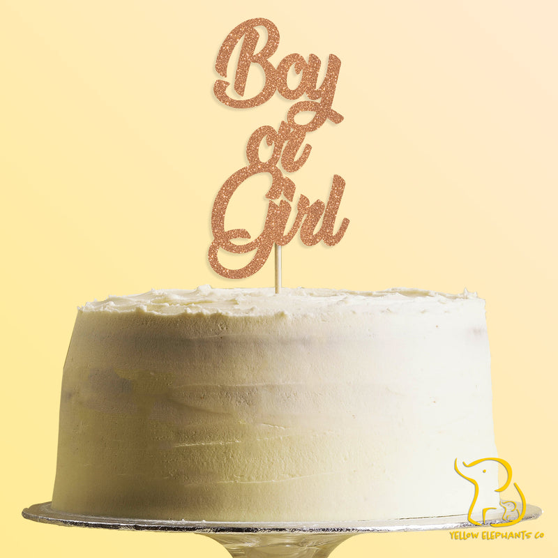 Boy or Girl Cake Topper