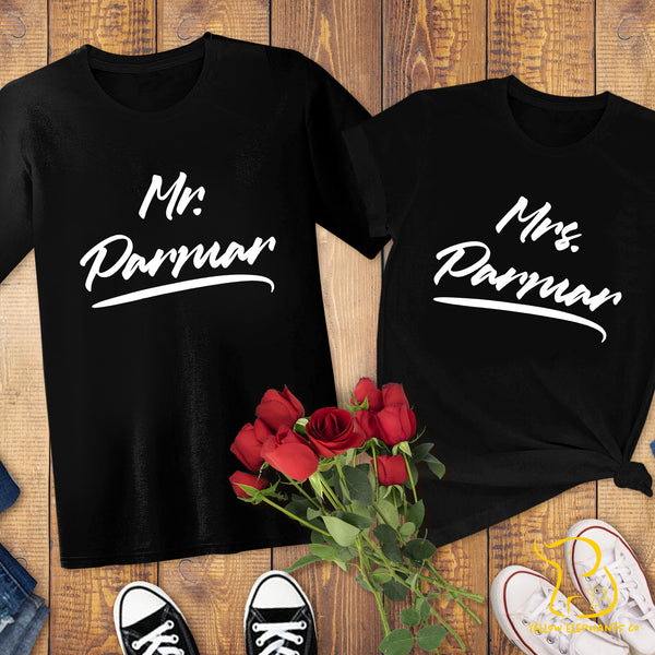 Couples T-Shirts - Custom Mr/Mrs