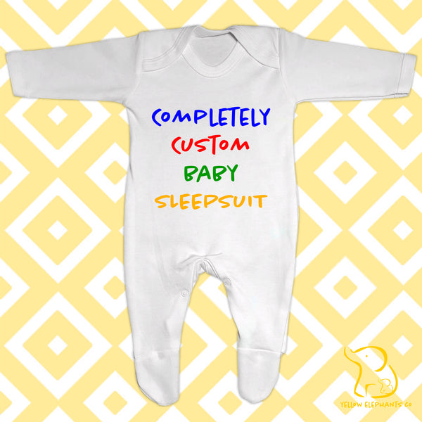 Completely Custom Baby Sleepsuit