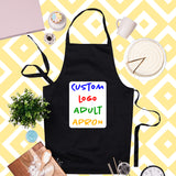 Completely Custom Logo Adult Apron - Black