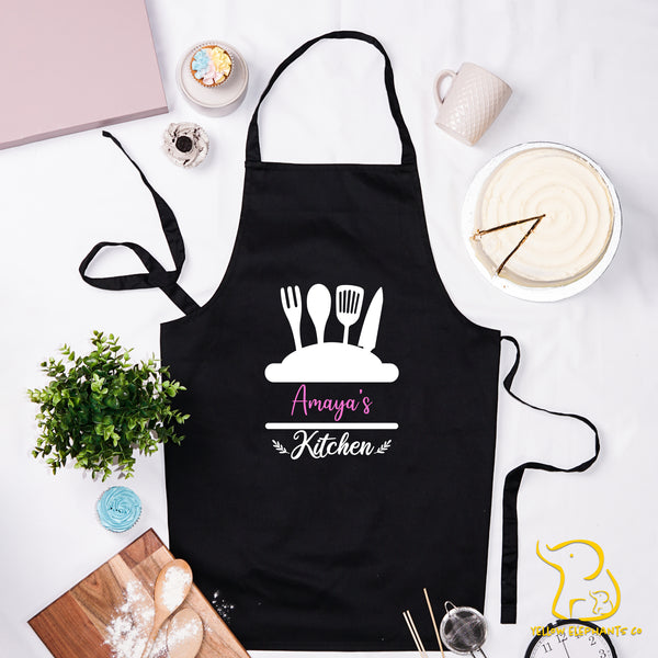 Custom Kitchen Apron - Black