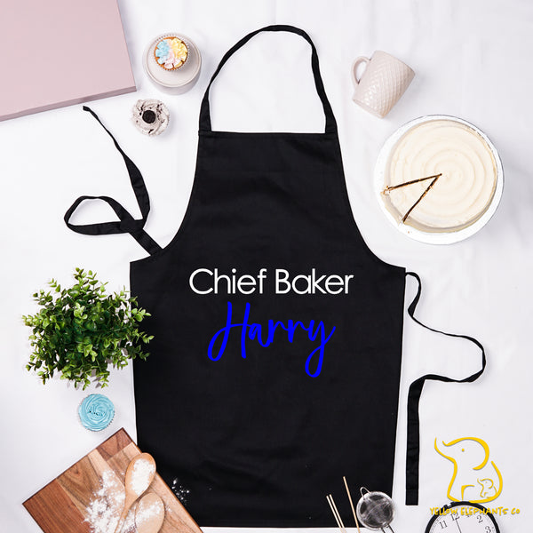 Custom Chief Baker Apron - Black