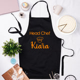 Custom Head Chef Apron - Black