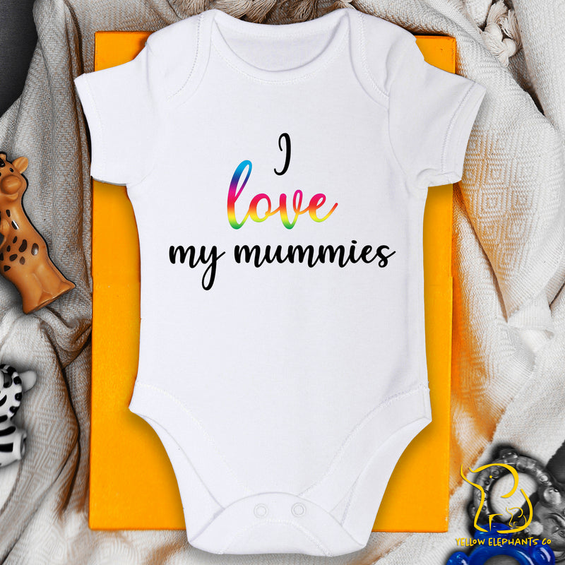 I Love My Mummies Baby Bodysuit