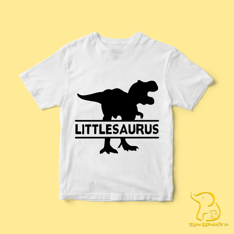 Children's Littlesaurus T-Shirt - White