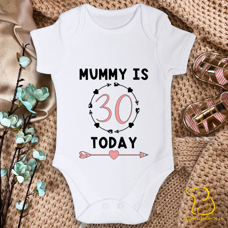Mummy Is (Age) Today Baby Bodysuit