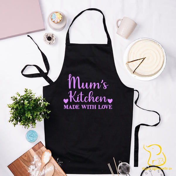 Custom Made With Love Apron - Black