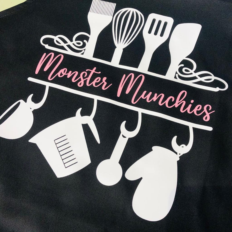 Custom Name Apron - Black