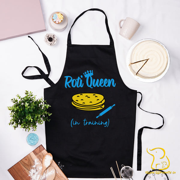 Roti Queen In Training Apron - Black