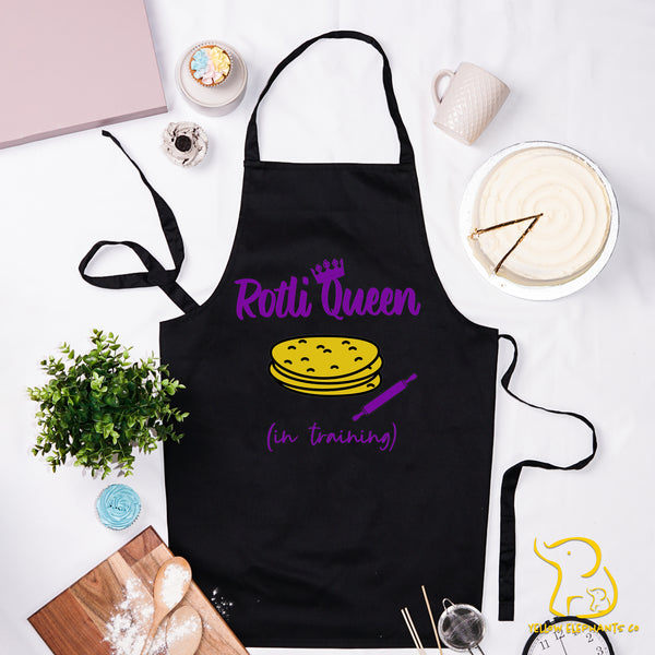 Rotli Queen In Training Apron - Black