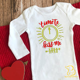 Time To Kiss Me Baby Sleepsuit