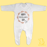 Happy Mother's Day Baby Sleepsuit