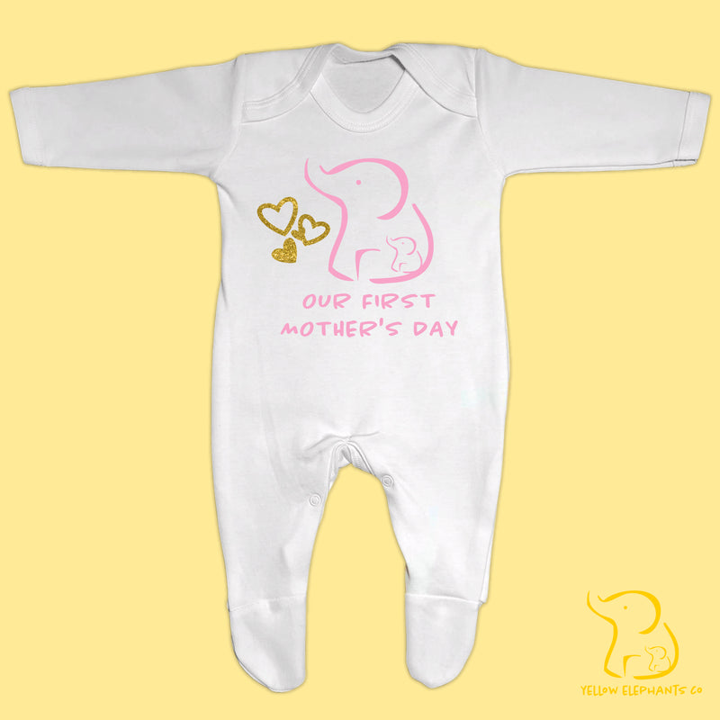 Our First Mother's Day Baby Sleepsuit