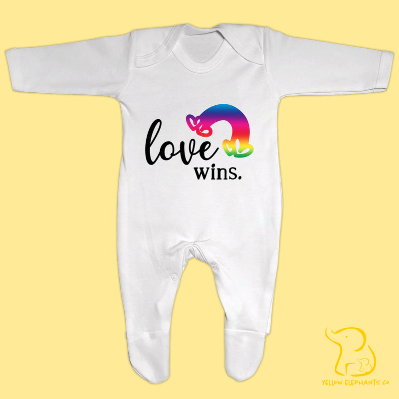 Love Wins Baby Sleepsuit