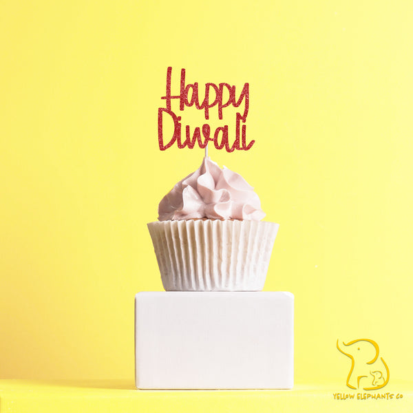 Happy Diwali Cupcake Toppers