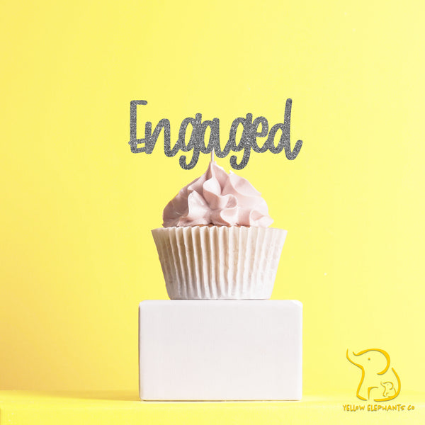 Engaged Cupcake Toppers