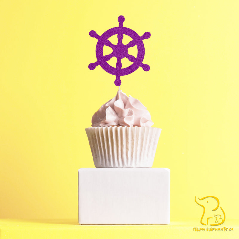 Nautical Wheel Cupcake Toppers