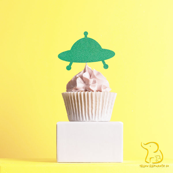 UFO Cupcake Toppers