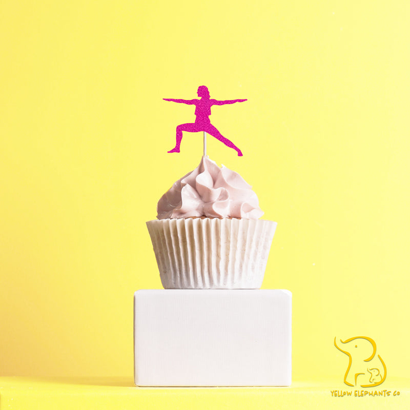 Yoga Cupcake Toppers