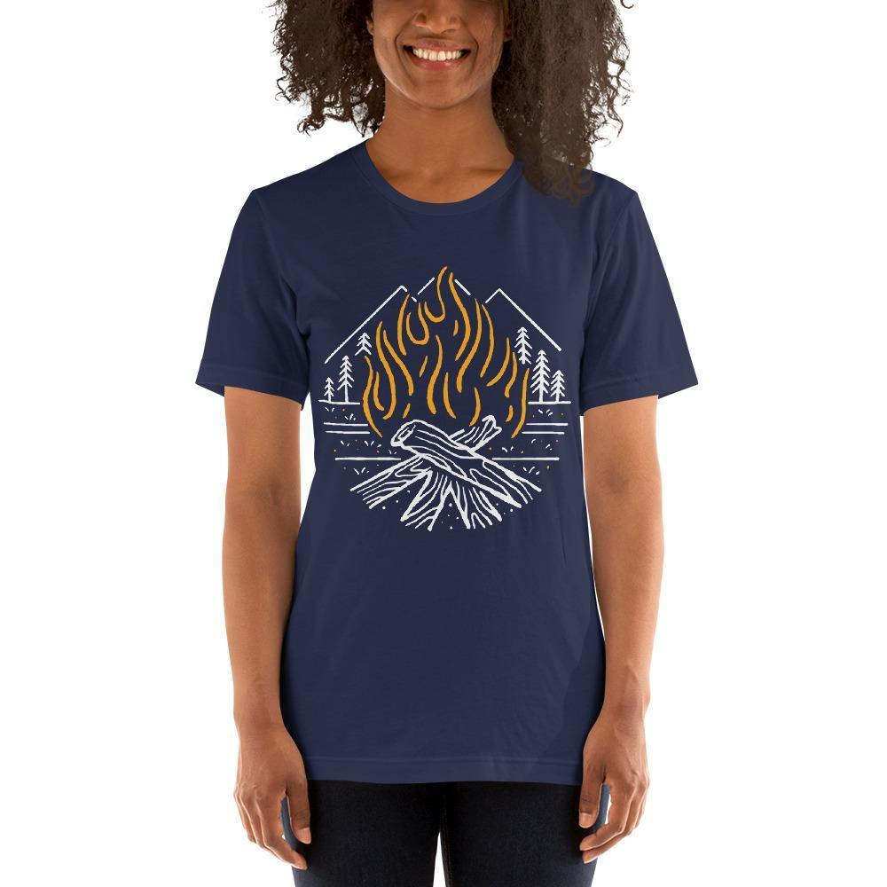 Fighting Spirit Bella Canvas Short-Sleeve Unisex Tee-Bandits Emporium-Navy-XS-Bandits Emporium