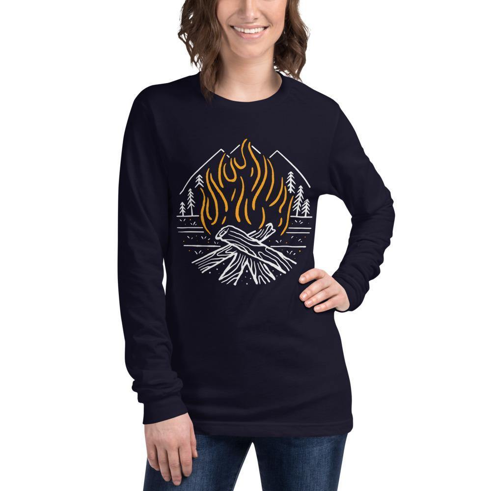 Fighting Spirit Bella Canvas Unisex Long Sleeve Tee-Long Sleeve-Bandits Emporium-Navy-XS-Bandits Emporium
