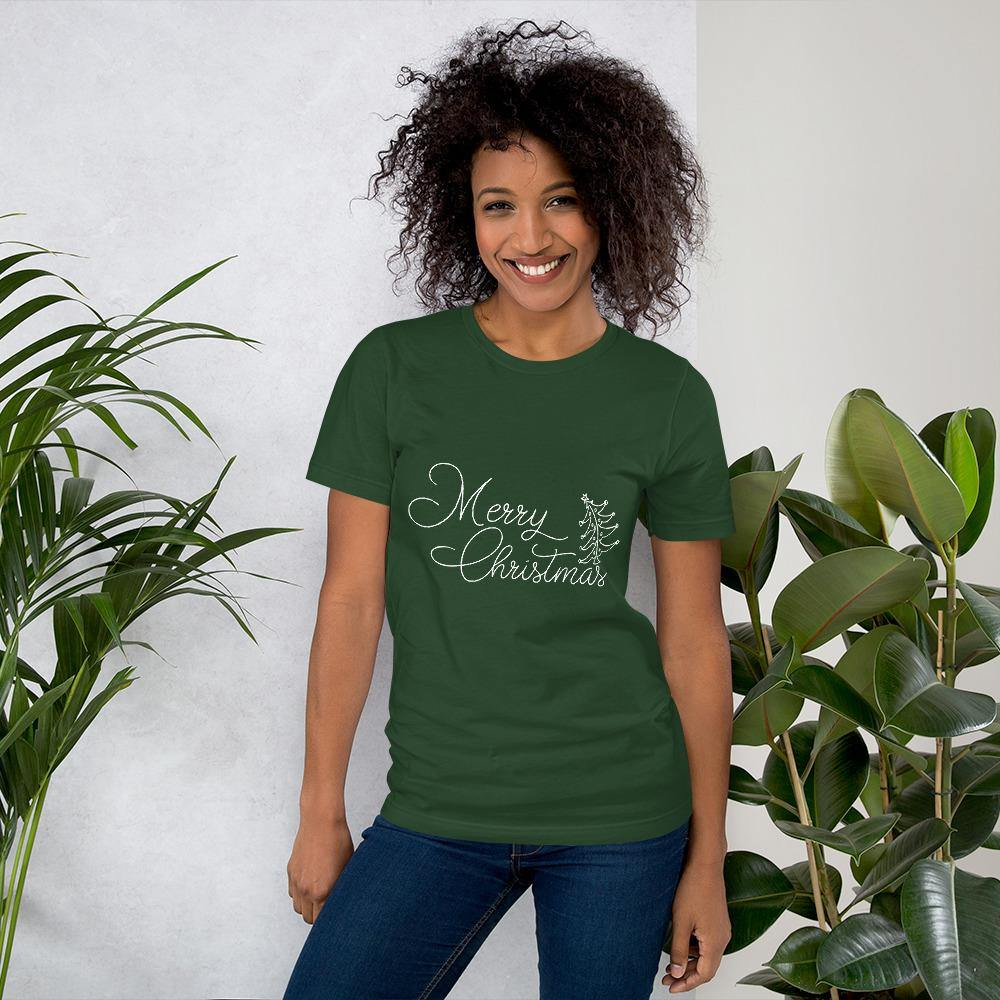 Merry Christmas Bella Canvas Short-Sleeve Unisex Tee - Bandits Emporium