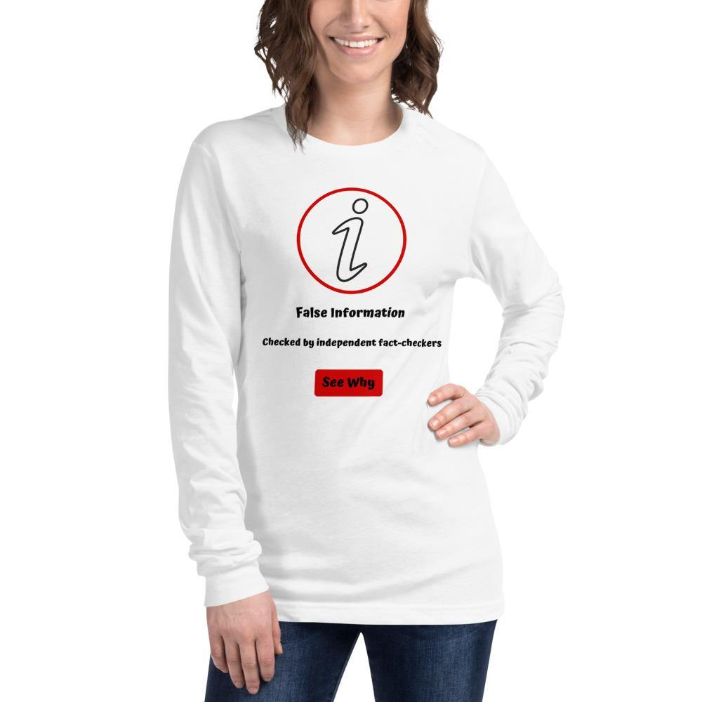 False Information Bella Canvas Unisex Long Sleeve Tee - Bandits Emporium