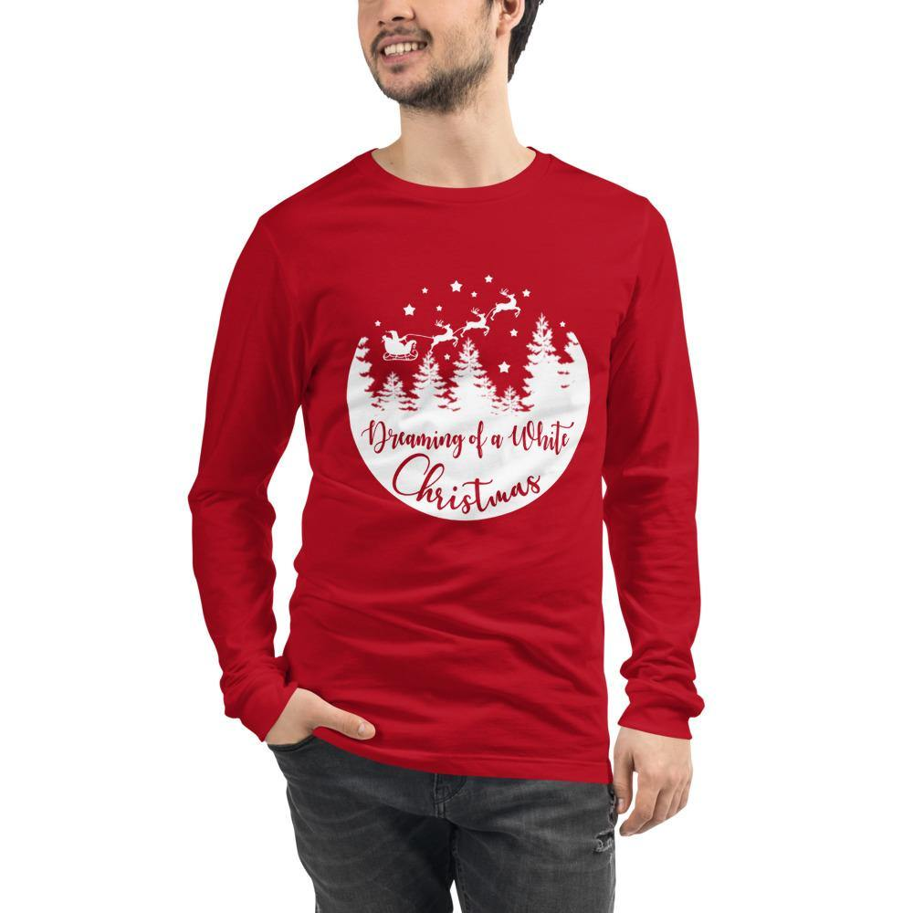 Dreaming of a White Christmas Bella Canvas Unisex Long Sleeve Tee - Bandits Emporium