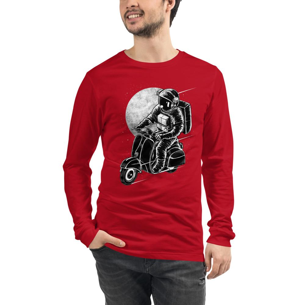 Traverser Bella Canvas Unisex Long Sleeve Tee-Bandits Emporium-Red-XS-Bandits Emporium