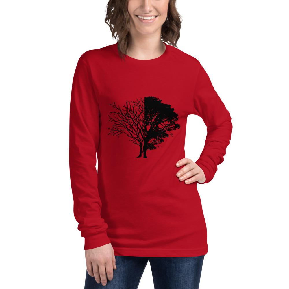 Tree of Knowledge Bella Canvas Unisex Long Sleeve Tee-Long Sleeve-Bandits Emporium-Red-XS-Bandits Emporium