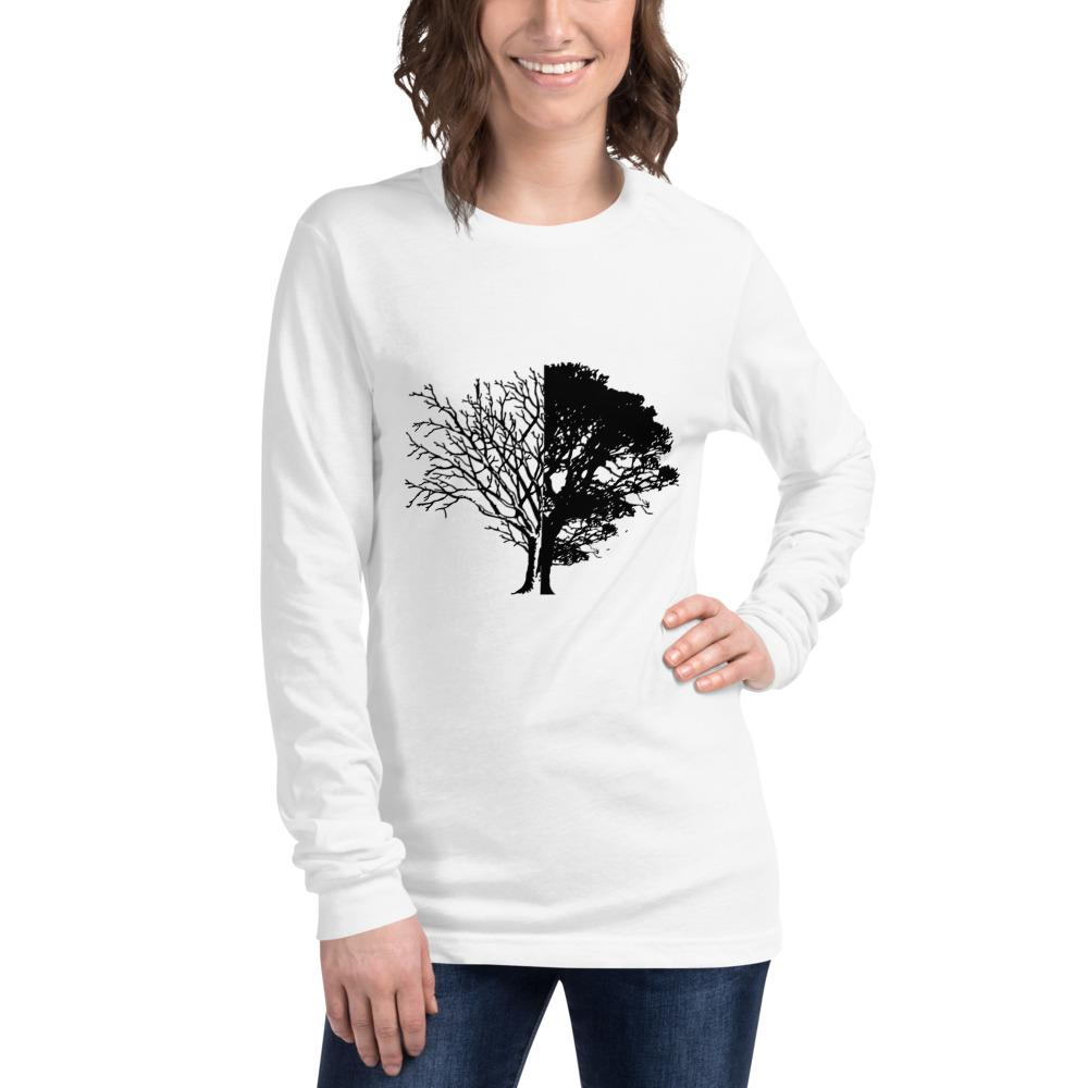 Tree of Knowledge Bella Canvas Unisex Long Sleeve Tee-Long Sleeve-Bandits Emporium-White-XS-Bandits Emporium
