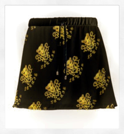 Lauris Couture Mini Logo Skirt