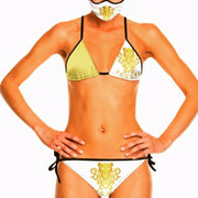 Lauris Couture White & Gold Bikini Swimsuit