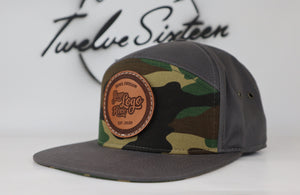 Custom 7 Panel Hat | Stitched | Custom Leather Patch | Personalized Logo Flatbill Cotton and Twill | 7 Panel Full Back Hat For Your Business
