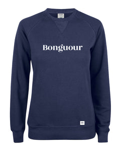 Sweat col rond Bonguour marine