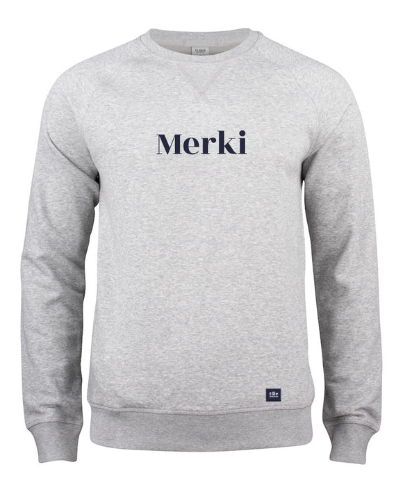 Sweat col rond Merki gris