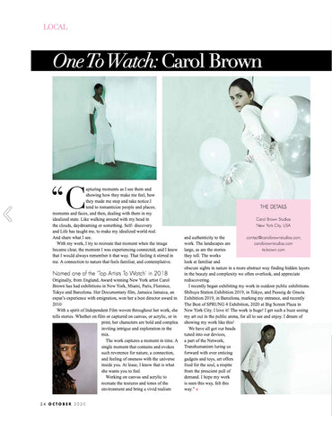 October 2020 - Editorial In Kensington House Magazine