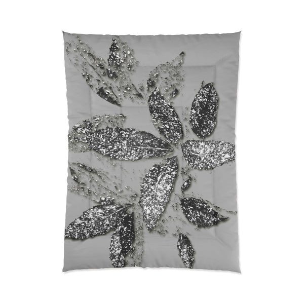 Hundreds & Thousands Scattered Collection Silver Comforter